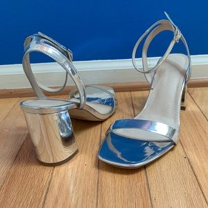 ASOS Silver Hong Kong Barely There Heeled Sandals